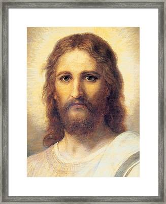 Jesus Christ Framed Print by Carl Bloch