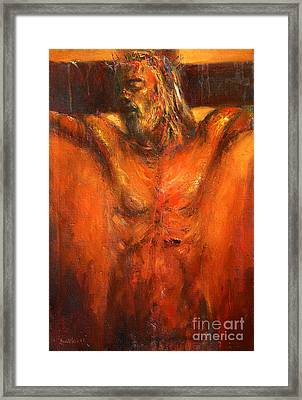 Jesus Christ Crucifixion Framed Print by Michal Kwarciak
