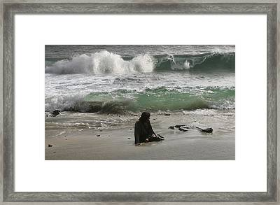 Jesus Christ- Don't Walk Away Framed Print