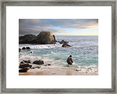 Jesus Christ- He Will Baptize You With The Holy Spirit And Fire Framed Print