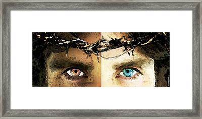 Jesus Christ - How Do You See Me Framed Print by Sharon Cummings