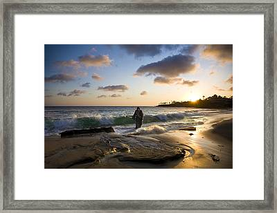 Jesus Christ- I Have Come To Do Your Will My God Framed Print