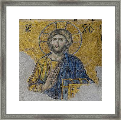 Jesus Christ In Istanbul Turkey Framed Print by Brandon Bourdages