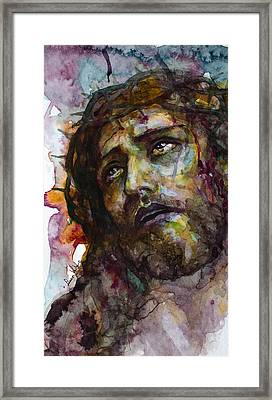 Framed Print featuring the painting Jesus Christ by Laur Iduc