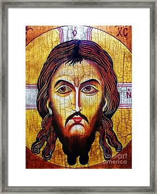 Jesus Christ Mandylion Framed Print by Ryszard Sleczka