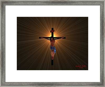 Jesus Christ Framed Print by Michael Rucker