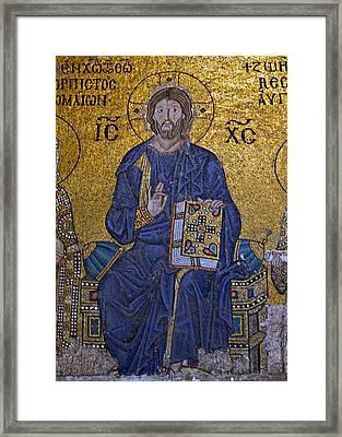 Jesus Christ Mosaic Framed Print by Stephen Stookey