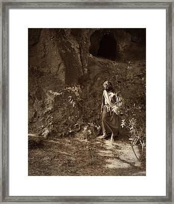 Jesus Christ- My Light Will Shine For You Just A Little Longer Framed Print