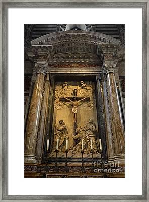 Jesus-christ On Cross Inside Siena's Duomo Framed Print