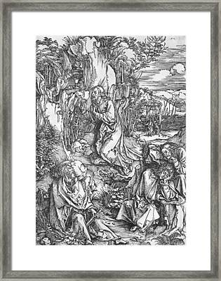 Jesus Christ On The Mount Of Olives Framed Print by Albrecht Durer or Duerer