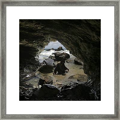 Jesus Christ Praying To The Father Framed Print