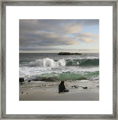 Jesus Christ- Spend Time With Me I Miss You Framed Print