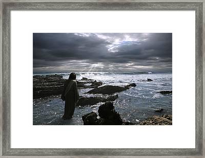 Jesus Christ- The Heavens Declare The Glory Of God Framed Print