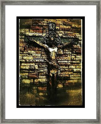 Jesus Coming Into View Framed Print