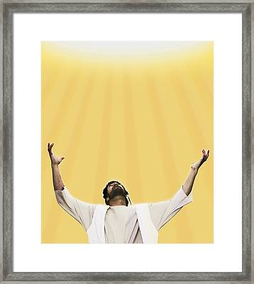 Jesus Cries Out To Heaven Framed Print by Kelly Redinger