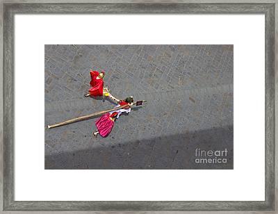 Jesus Died For Us V Framed Print by Al Bourassa