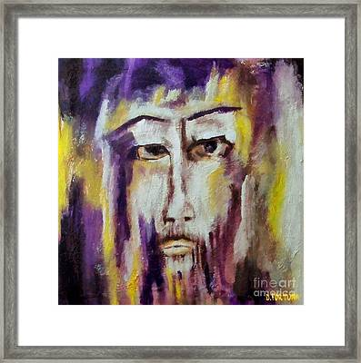 Framed Print featuring the mixed media Jesus by Dragica  Micki Fortuna