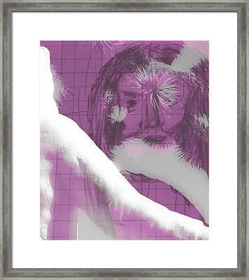 Jesus Entering Space Time Framed Print by Carolina Liechtenstein
