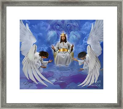 Jesus Enthroned Framed Print