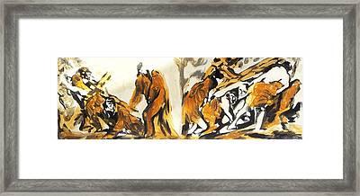 Jesus Framed Print by Hatin Josee