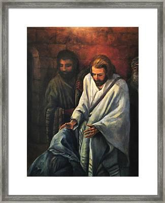 Jesus Healing Beggar Framed Print