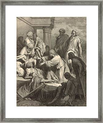 Jesus Healing The Sick Framed Print