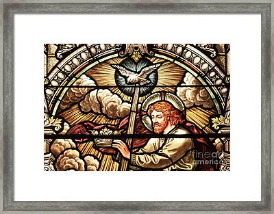 Jesus Holds The Crown Framed Print by Adam Jewell