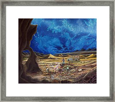 Jesus In Blue Jeans Framed Print