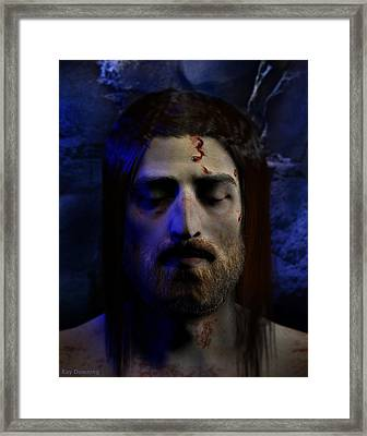 Jesus In Death Framed Print by Ray Downing