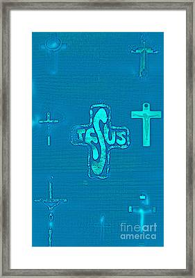 Jesus In The Middle Framed Print by Tina M Wenger