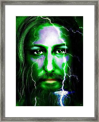 Jesus In The Storm Framed Print by Daniel Janda
