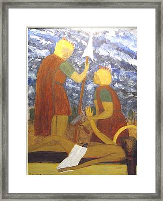 Jesus Is Nailed To The Cross Framed Print