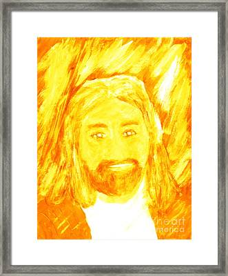 Jesus Is The Christ The Holy Messiah 1 Framed Print by Richard W Linford