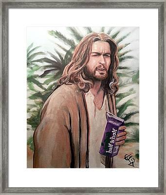 Jesus Lebowski Framed Print by Tom Carlton