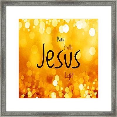 Jesus Light 1 Framed Print