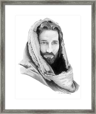 Jesus Framed Print by Linda Bissett