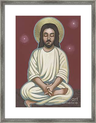 Framed Print featuring the painting Jesus Listen And Pray 251 by William Hart McNichols