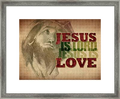 Jesus Love Framed Print