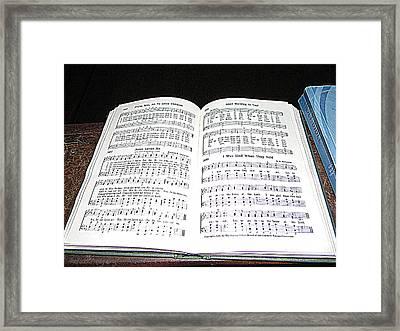 Jesus Loves Me Framed Print by Roe Rader