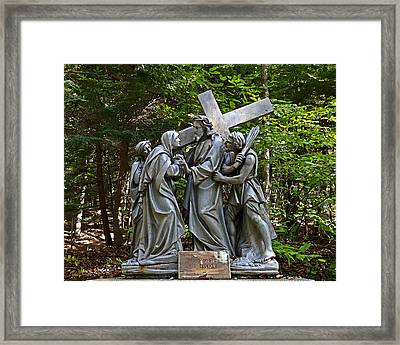Jesus Meets His Mother Framed Print