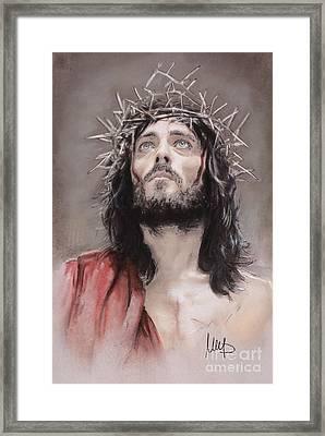 Jesus  Framed Print by Melanie D
