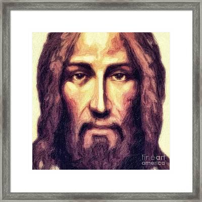 Jesus Framed Print by Nishanth Gopinathan