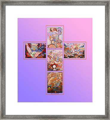 Jesus Of Advent L P Framed Print by Aswell Rowe