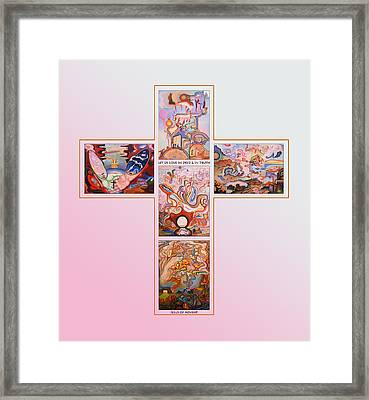 Jesus Of Advent P G Framed Print by Aswell Rowe