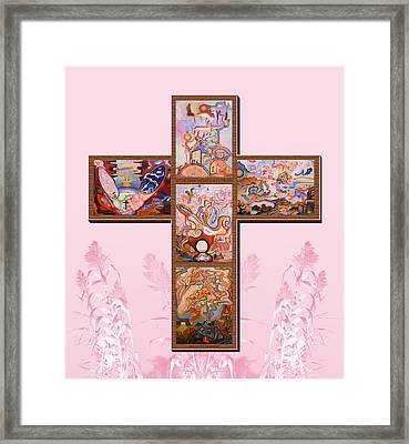 Jesus Of Advent P P M Framed Print by Aswell Rowe