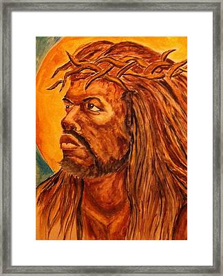 Jesus Of Color Framed Print by Clyde Taylor