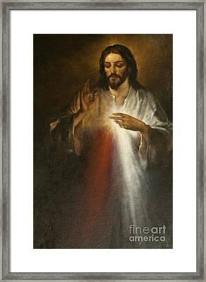Jesus Of Divine Mercy Framed Print by Dan Radi
