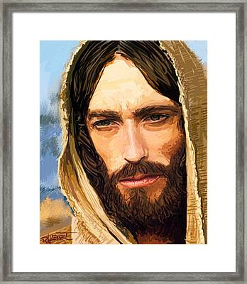 Jesus Of Nazareth Portrait Framed Print by Dave Luebbert