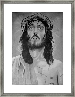 Jesus Of Nazareth Framed Print by Subhash Mathew
