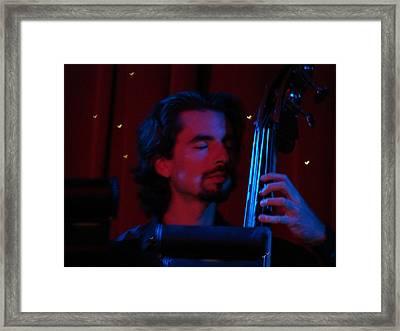 Jesus On The Bass Framed Print
